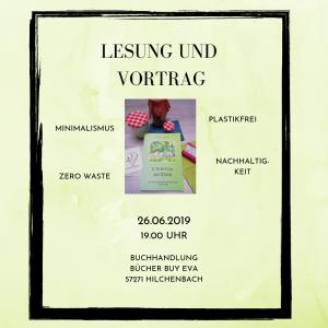 Lesung und Vortrag in Hilchenbach, 26.6.19 um 19 Uhr