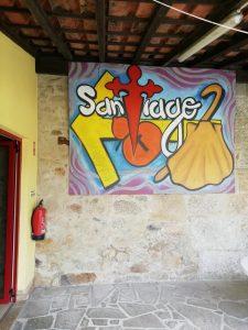 Caminho Portugues - Innenhof der Auberge in Barcelos