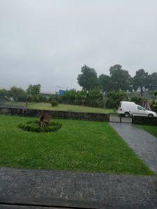 Caminho Portugues Tag 6 - Blick auf Regen und Wind