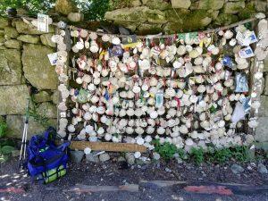 Caminho Portugues Tag 8 - Eine Wand voller Muscheln