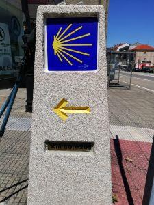 Caminho Portugues Tag 8 - Kilometerstein in Arcade: 80 km