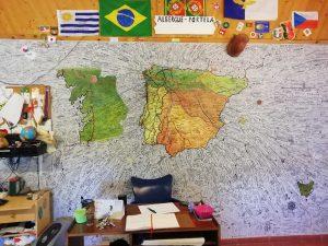 Caminho Portugues Tag 9 - Tausende Namen auf einer Wand
