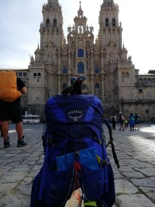 Caminho Portugues Tag 12 - Rucksack vor Kathedrale